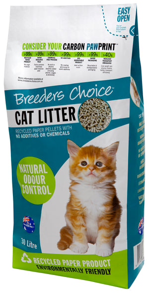 BREEDERS CHOICE RECYCLED PAPER CAT LITTER