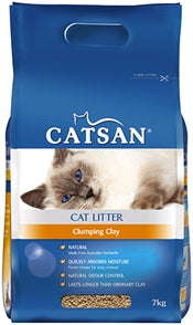 CATSAN CLUMPING CLAY CAT LITTER 7KG