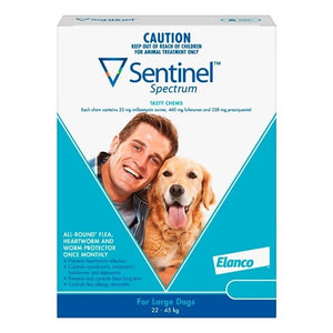 Sentinel Spectrum Large Dogs 22-45kg Blue