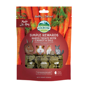 Oxbow Simple Rewards Baked Treats with Carrot & Dill