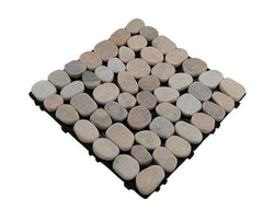 Soft Coloured Pebbles Natural Marble Stone Decking Tile