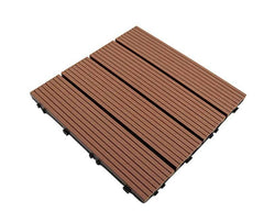 Brown Groove Stripy Composite Decking Tile