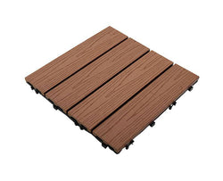 Brown Woodgrain Stripy Composite Decking Tile