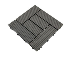 Darkgrey Groove Crosshatch Decking Tile