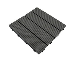 Darkgrey Groove Stripy Composite Decking Tile