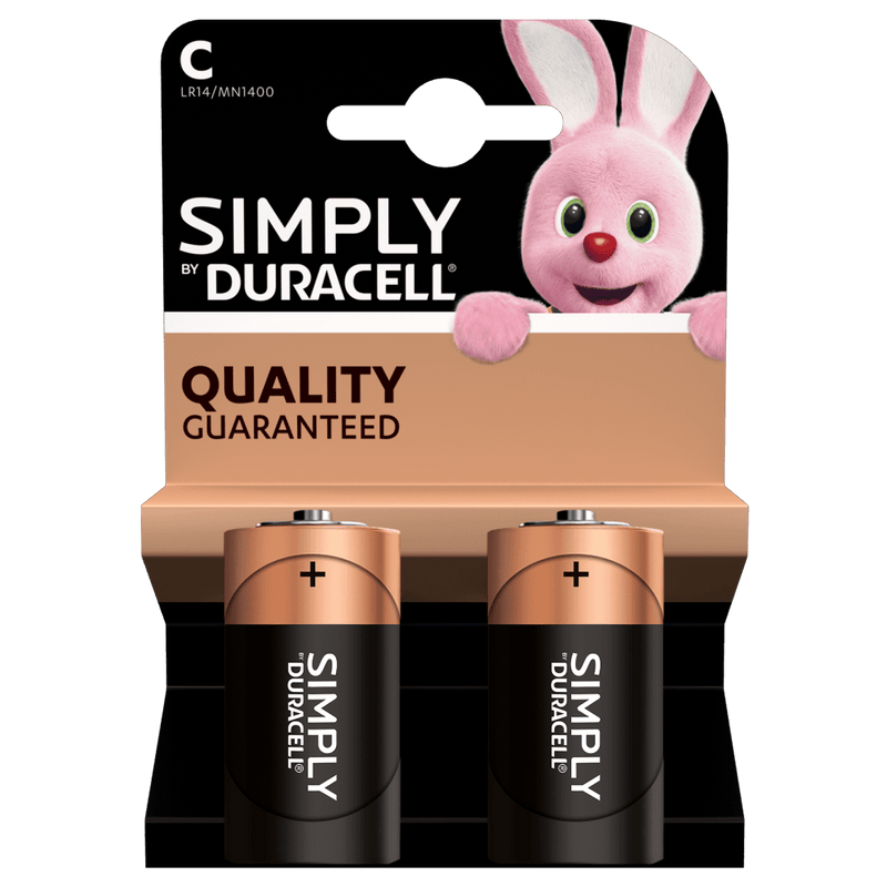 Duracell - Simply LR14/ MN1400 Alkaline 1.5V C Battery - 2 pack