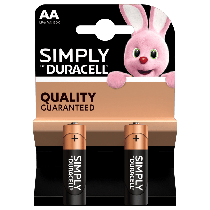 Duracell - Simply - LR6/ MN1500 Alkaline 1.5V AA Batteries - 2, 4, & 12 pack **Special Offer on the 4 pack**