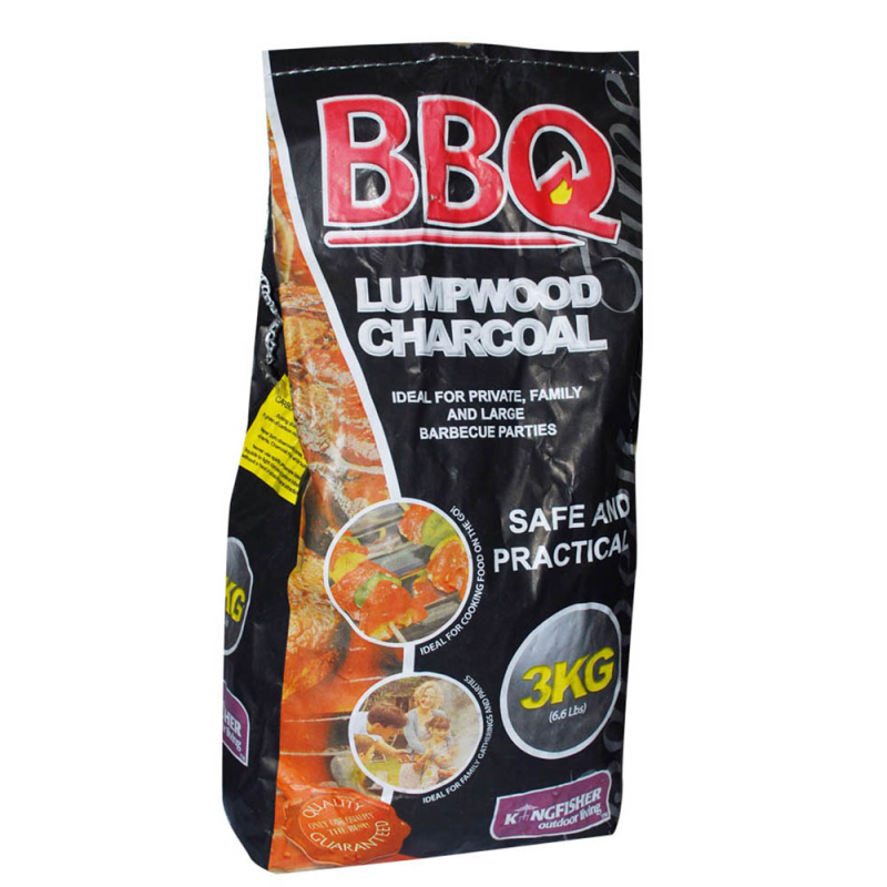 BBQ Lumpwood Charcoal - 3kg (LOCAL PICKUP/DELIVERY ONLY)