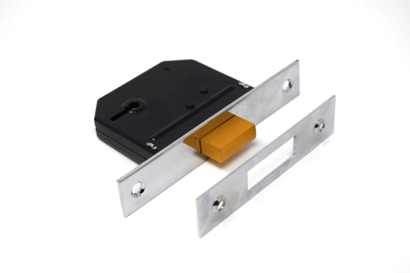 "Yale - 5 Lever Deadlock - High Security - 64 mm (2.5"") - Brass or Chrome finish"