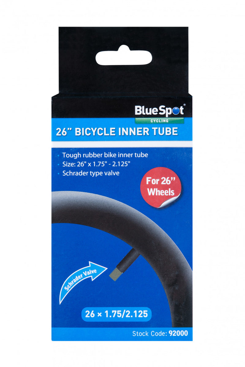"Bluespot - 26"" Rubber Bicycle Inner Tube"