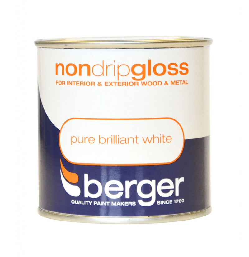 Berger - Non-drip Gloss - Pure Brilliant White - Extra Value Pack - 1.25 litre for price of 750 ml