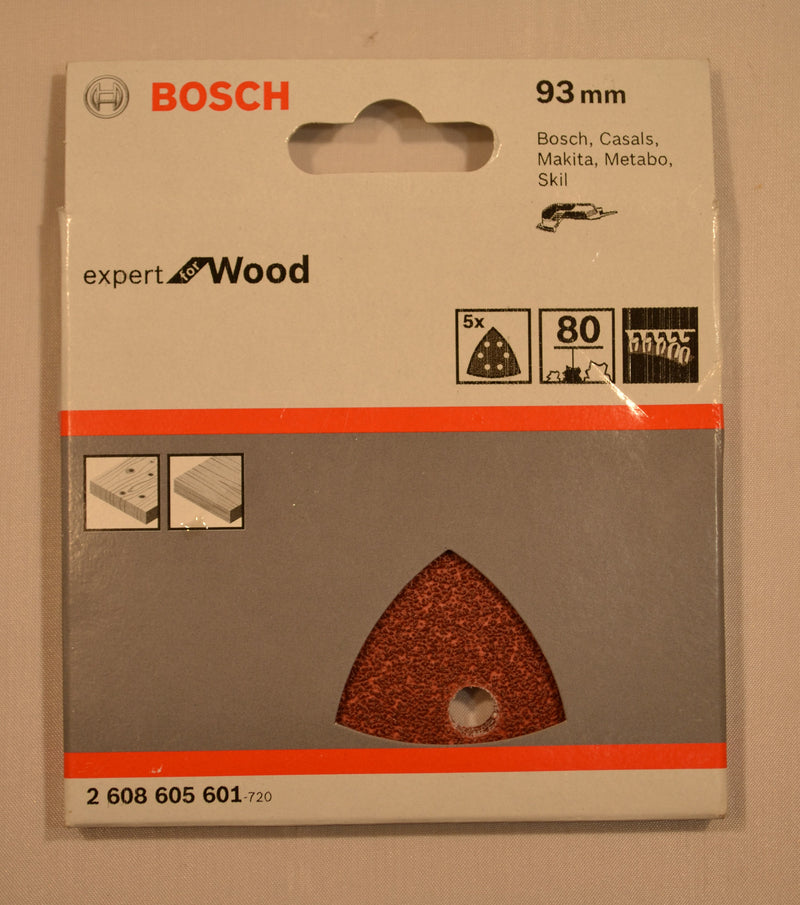 Bosch - Sanding Sheets For Wood - X5 - 93mm - 80 Grit