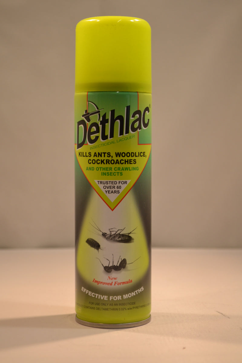 Dethlac - Insecticidal Lacquer - Kills Ants Woodlice, Cockroaches and Other Crawling Insects - 250ml (LOCAL PICKUP / DELIVERY ONLY)
