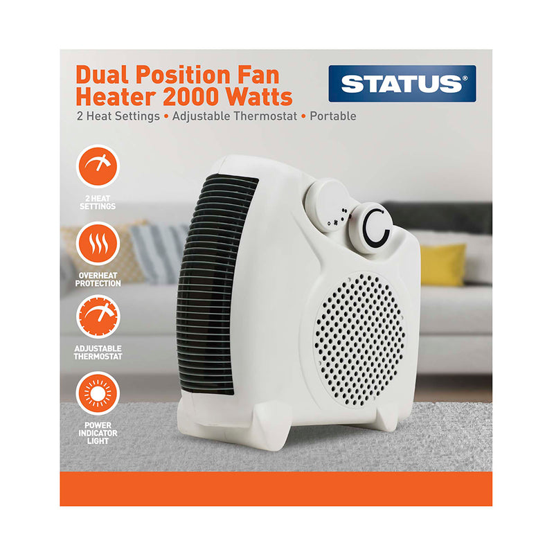 Status - Dual Position Fan Heater - 2000 Watts