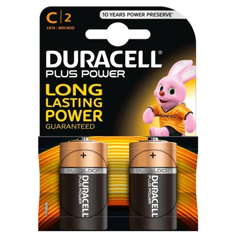 Duracell PLUS C Battery - 2 pack