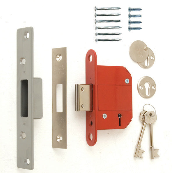 "ERA Fortress 5 Lever Deadlock - Chrome - 3"" - 2 & 3 key options available **RRP £24.99**"