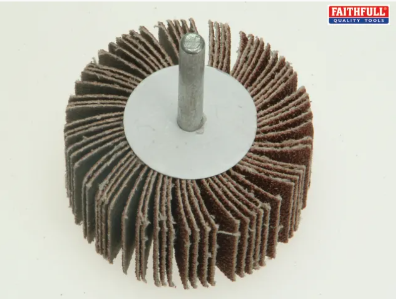 Faithfull Quality Tools - Abrasive Flap Wheel - Spindle Mounted - 60 grit, 80 grit & 120 grit