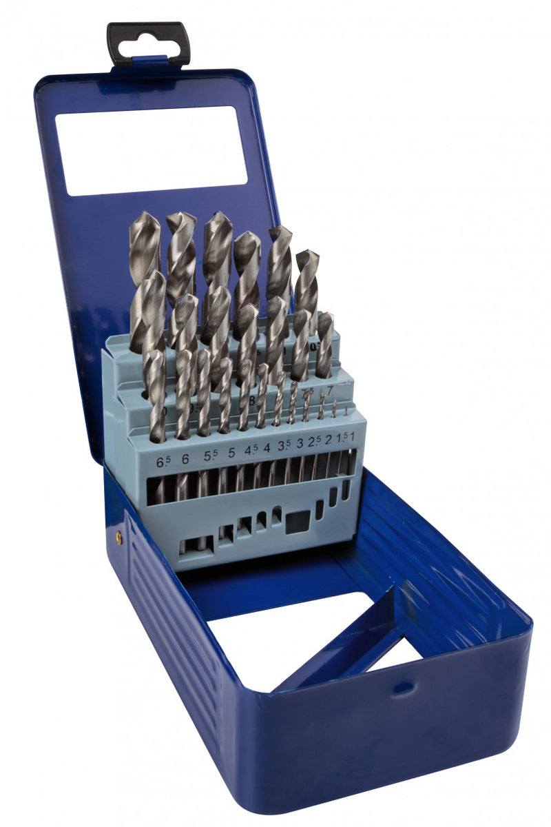 BlueSpot - 25 piece Metric HSS Drill Set - 1 mm to 13 mm