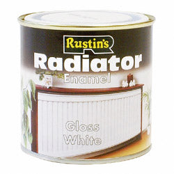 Rustins Radiator Enamel - Gloss White - 250 ml & 500 ml