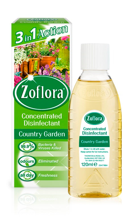 Zoflora - Concentrated Disinfectant - 120ml - Bouquet, Country Garden, Lavender & Linen Fresh