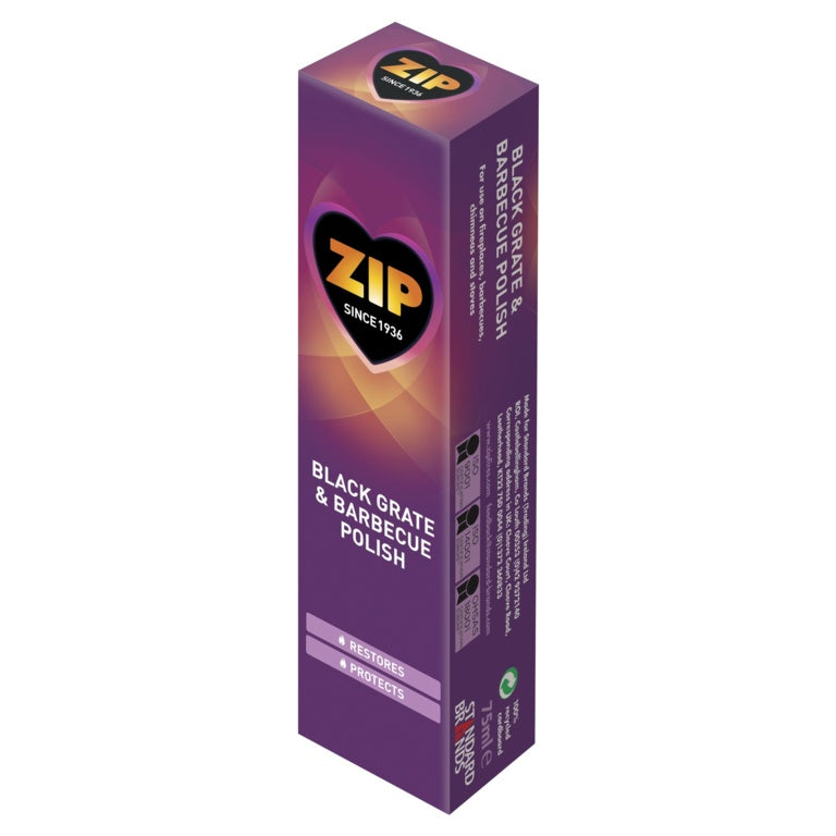 Zip - Traditional Black Grate & Barbecue Polish - 75ml