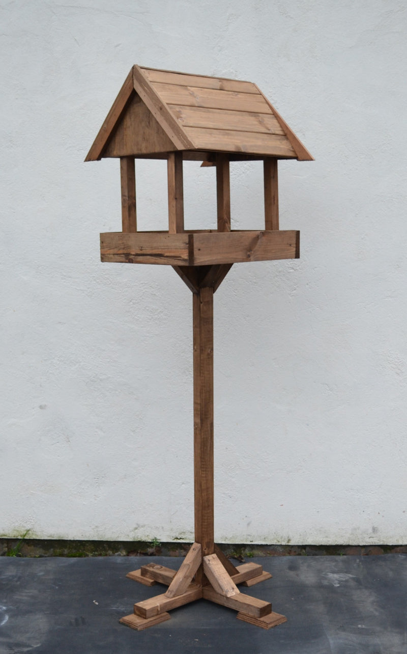 Large Handmade Wooden Bird Feeding Table with Bird House (LOCAL PICKUP / DELIVERY ONLY)