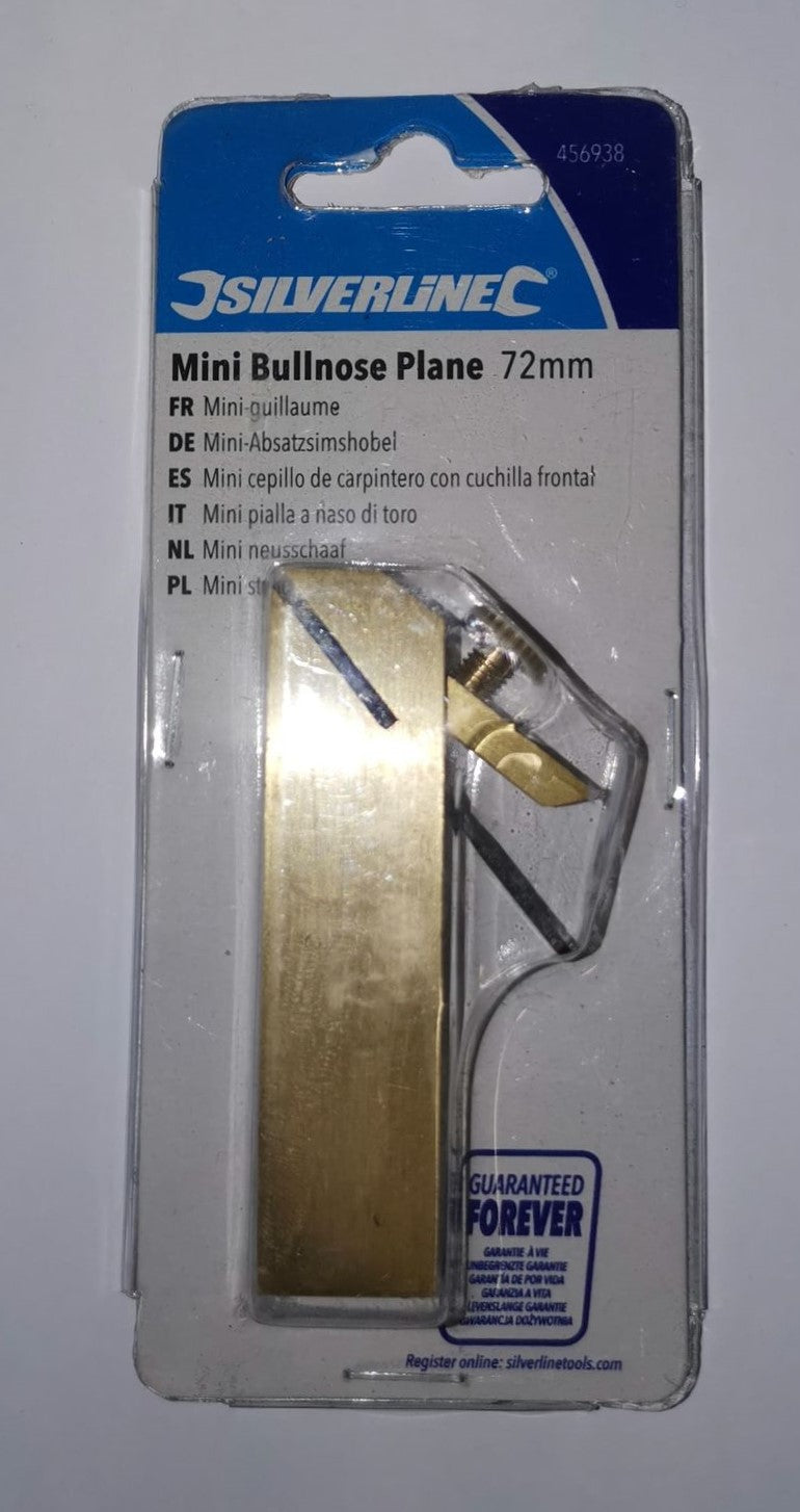 "Silverline - Mini Bullnose Plane - 72 mm (approx. 3"")"