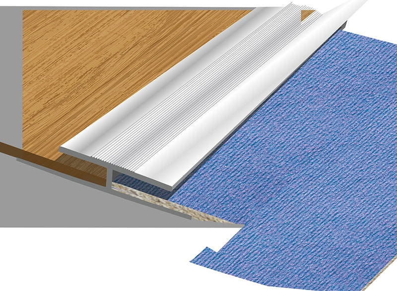 Aluminium Carpet Trim - 3' (910 mm) - Aluminium or Gold effect