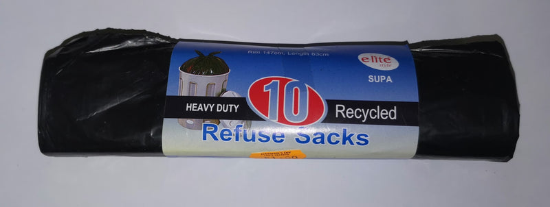 Heavy Duty Recycled Refuse Sacks (10 pack) **RRP £1.99**