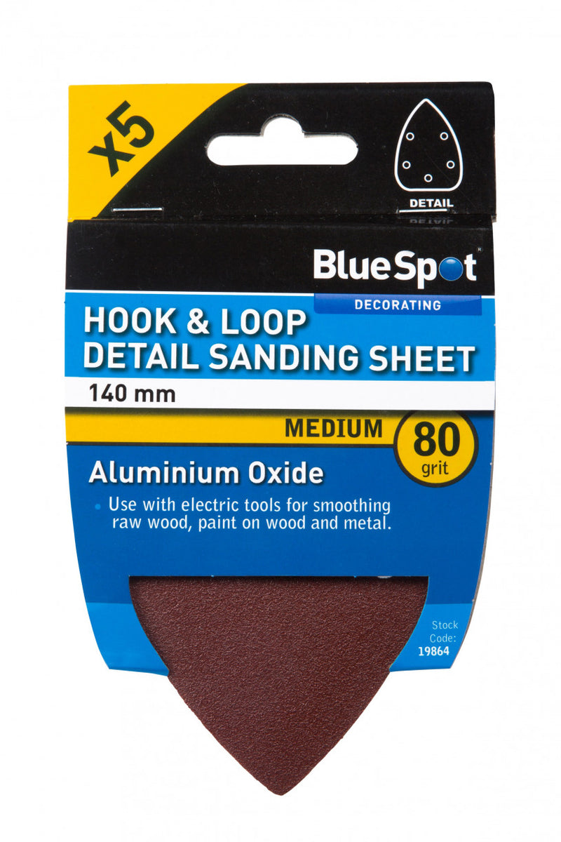 Hook & Loop - Detail Sanding Sheets - 140 mm - 60, 80, 120 & Mixed grit