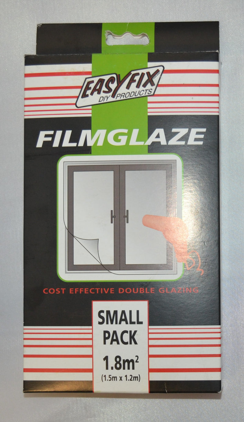 Easyfix - Filmglaze - Cost Effective Double Glazing - Small (1.8m²), Medium (4.5m²) & Large (9m²) packs