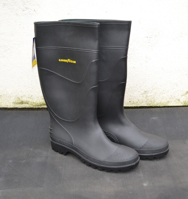Good Year - Woburn PVC Non-safety Waterproof Wellington Boot - Black - Sizes 6-11