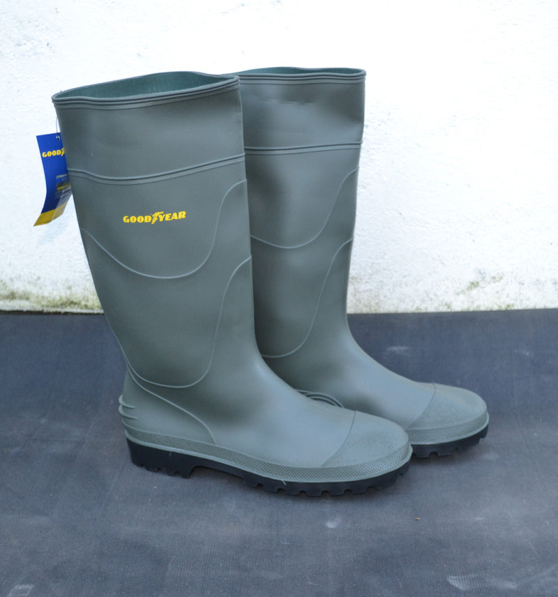 Good Year Woburn PVC Non-safety Waterproof Wellington Boot - Green - Sizes 6-11