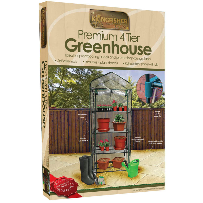Kingfisher - 4 Tier Greenhouse