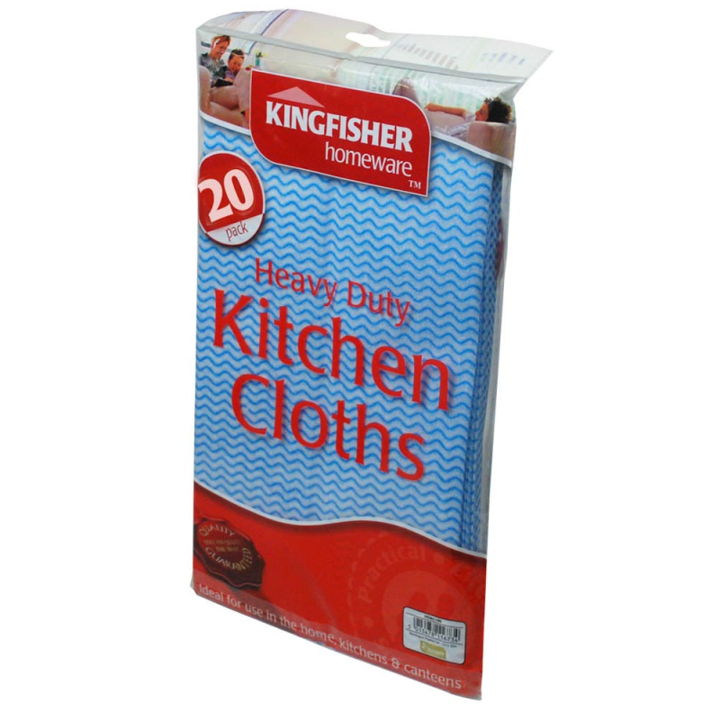 Kingfisher Heavy Duty Household Cleaning Cloths - 20 pack