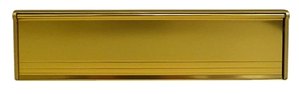 "Letter Box Draught Excluder with Flap - 293 mm x 77 mm (11 1/2"" x 3"") - Gold"