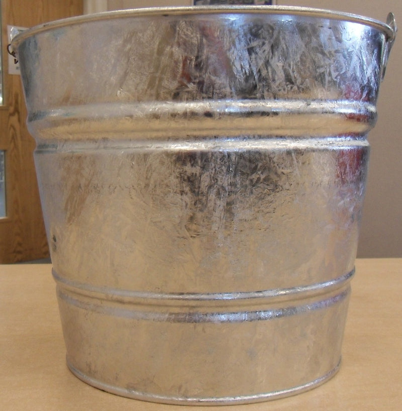 Galvanised Metal Bucket - 12 litre