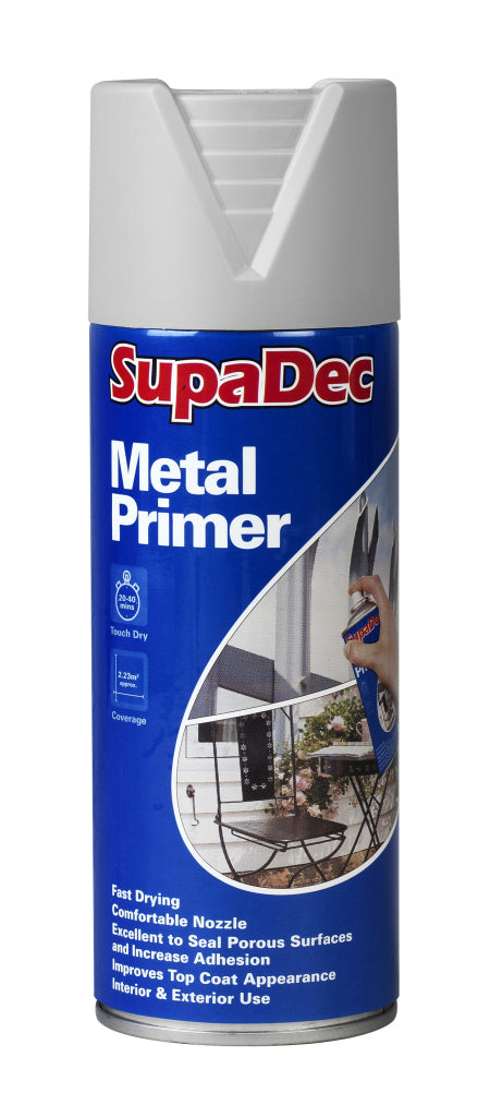 SupaDec - Metal Primer Spray Paint - 400 ml (LOCAL PICKUP / DELIVERY ONLY)