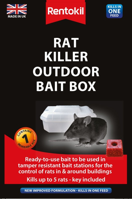 Rentokil Rat Killer Outdoor Bait Box **RRP £22**  (LOCAL DELIVERY/ COLLECTION ONLY)
