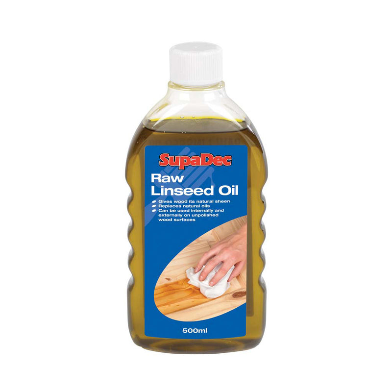 SupaDec Raw Linseed Oil - 500 ml (LOCAL PICKUP / DELIVERY ONLY)