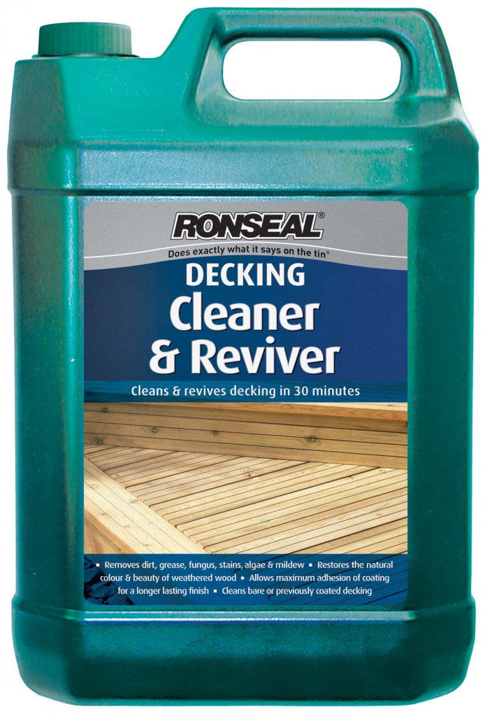 Ronseal Decking Cleaner & Reviver - 5 litres