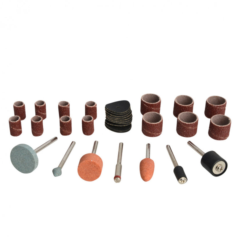 Rotary Tool Sanding and Grinding Accessory Set - 31 piece