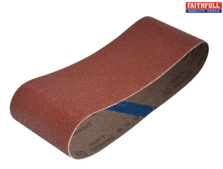 Abrasive Sanding Cloth Belts for Power Tools - 60, 80 & 120 - 457 x 75 mm