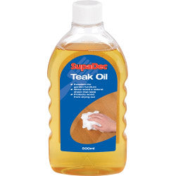 SupaDec Teak Oil - 500 ml (LOCAL PICKUP / DELIVERY ONLY)