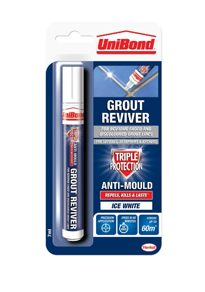 UniBond - Grout Reviver Ice White - 7 ml & 15 ml