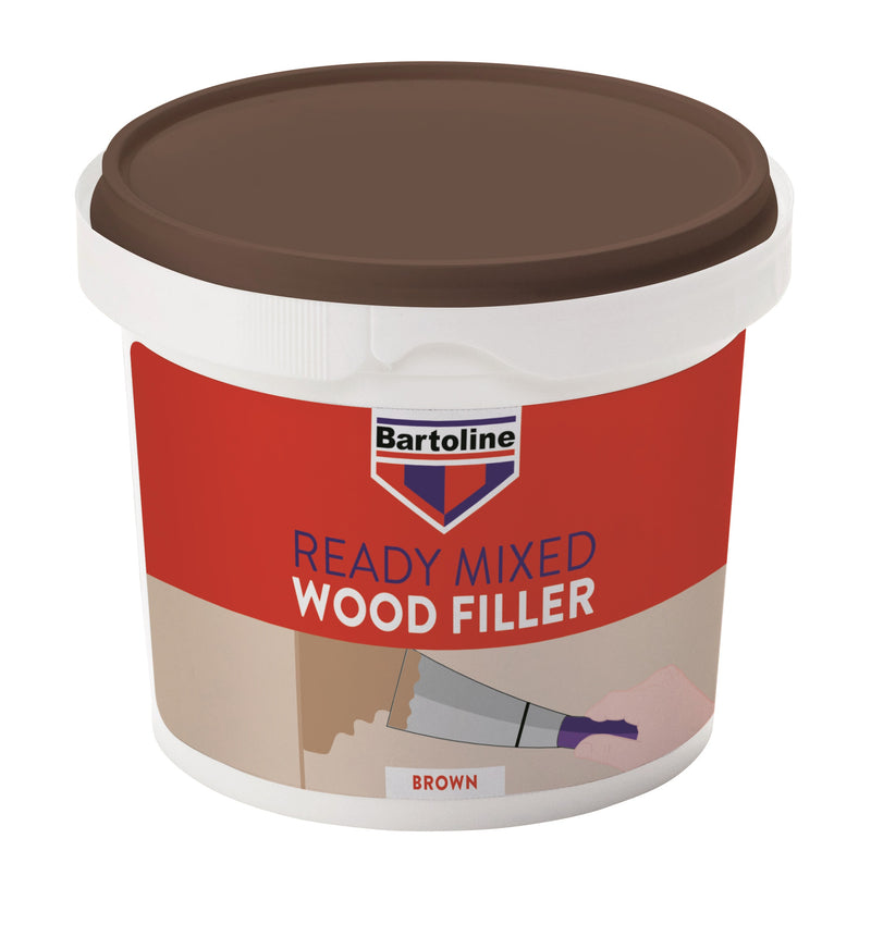 Ready Mixed Wood Filler - 500 g - White & Brown