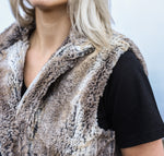 Farrah Faux Fox Fur Vest | Illyria Design