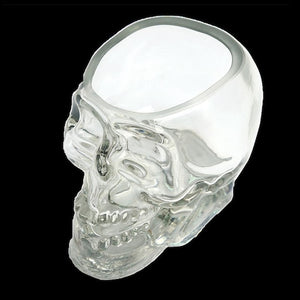 Crystal Skull Whiskey Glass Cup Drinking Ware Bar