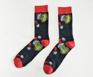 The Grinch Socks Christmas Cotton Sport Stockings for Student