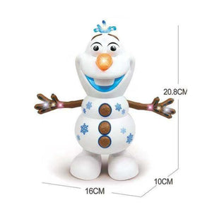Olaf Electric Dancing Snowman Toy for Kids Music Light Swing Christmas Gifts